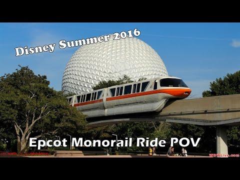 Walt Disney World Monorail- TTC to Epcot HD POV- 2016
