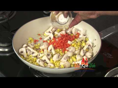 Mushroom Corn Fried Rice - In Hindi