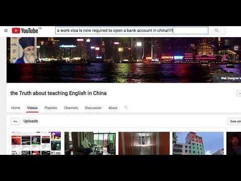 No Work Visa = No Bank Account in China