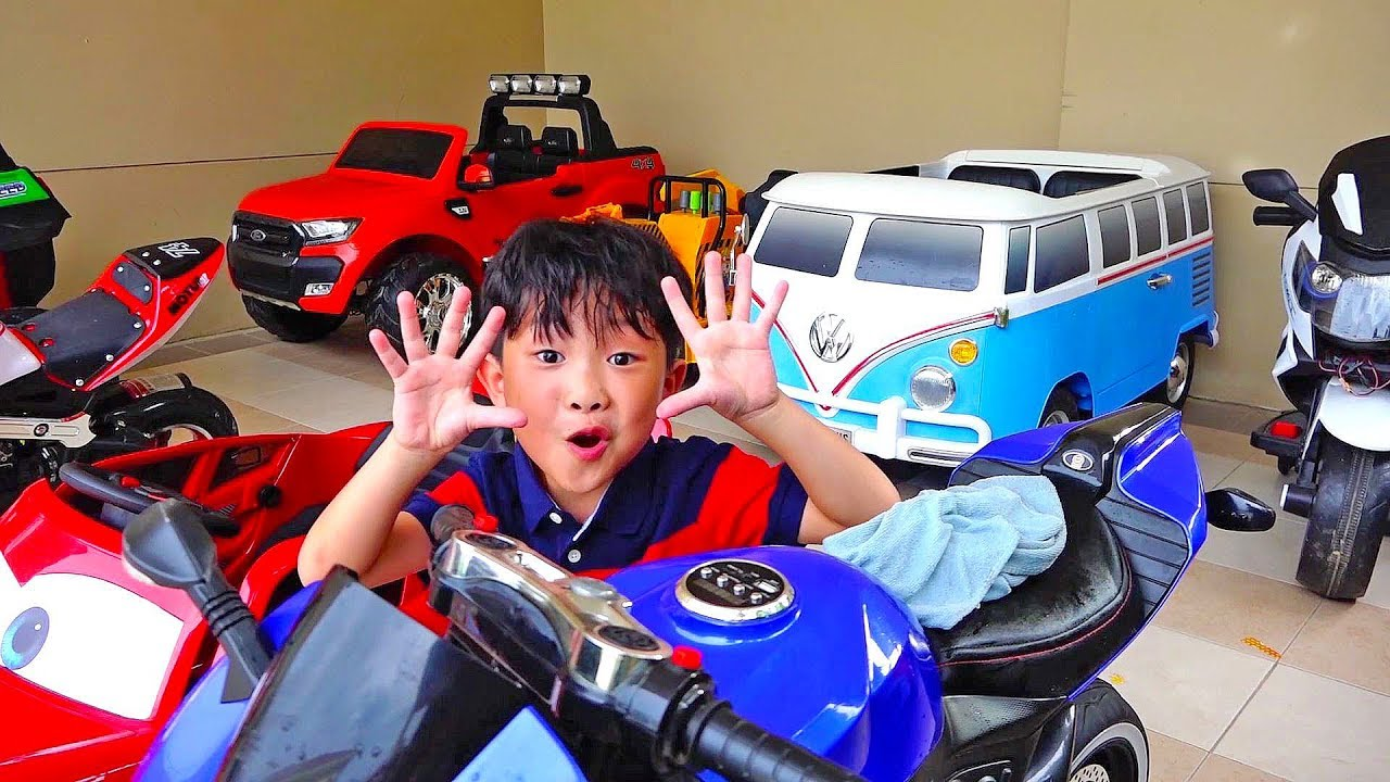 Power Wheels Car Toy Activity with Playground