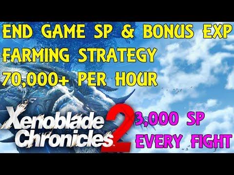 Xenoblade Chronicles 2 - End Game SP & Bonus Exp Farm Strategy