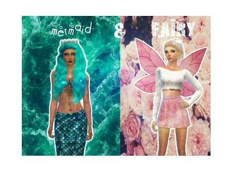 Sims 4- Create A Sim: mermaid & fairy