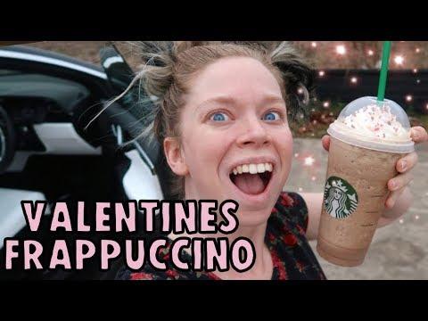 Trying STARBUCKS Valentine 'Chocolate Box' Frappuccino!