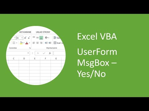 Excel UserForm MsgBox #6 - Yes/No Message Box (VBA)