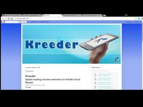 Kindle Cloud Reader Speed Reading Extension