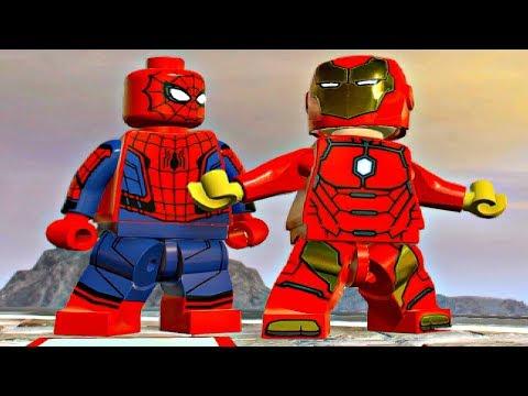LEGO Marvel Super Heroes 2 - IRON MAN & SPIDER-MAN Free Roam Gameplay