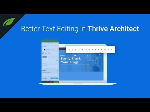 New Improvements to Thrive Architect Text Editing