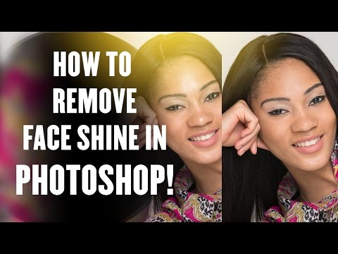 How to Remove Face Shine - Photoshop Tutorial