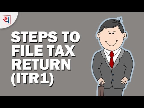 How to File Income Tax Return Online through ITR1 (FY 2016-17) | How to e-File Tax return for Free?