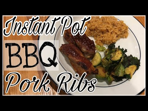 EASY Instant Pot Boneless Country Style BBQ Pork Ribs WITH RICE