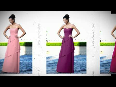Review of Alexia 894 Layered Tiered Chiffon Strapless A-Line Dress