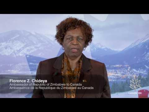 Zimbabwe Ambassador Wishes Canada a Happy 150th!