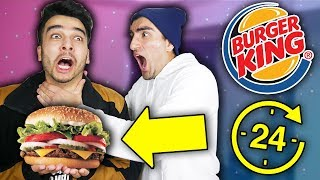 We ONLY Ate Burger King for 24 HOURS and Took It WAY TOO FAR! (IMPOSSIBLE CHALLENGE)