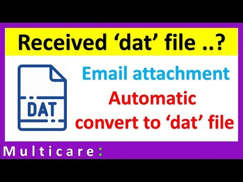 How to open dat file | Email attachment change automatically