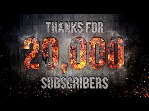 Thanks For 20,000 Subscribers - Photoshop Fire Text Effect Tutorial