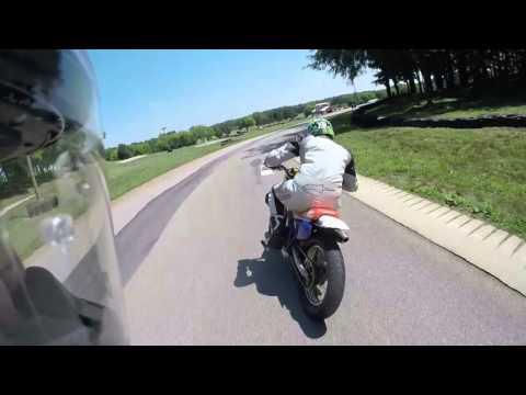 Fast FZ09 | Pit Bike Supermoto At VIR Go Kart Track