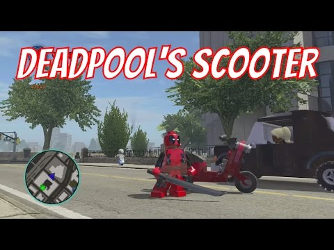 LEGO Marvel Superheroes - Deadpool's Scooter Unlock Location and Free Roam Gameplay