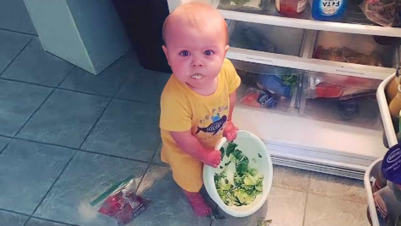 Funny Sneaky Babies Steal Everything   Cute Baby Funny Moments