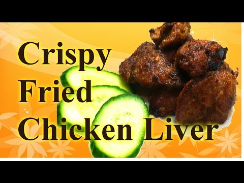 Russian Style cooking: Crispy fried chicken livers recipe 2 simple steps: coat and fry