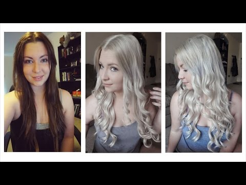 How I Bleached My Hair | Dark Brown to Light Ash Blonde