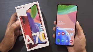 Samsung Galaxy A70s Unboxing & Overview