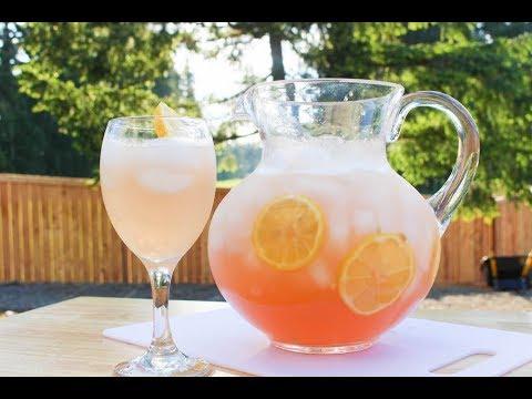 Pink Moscato Lemonade  Recipe - Summer Drinks - I Heart Recipes