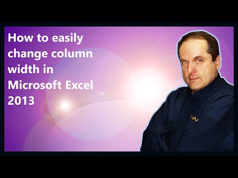 How to easily change column width in Microsoft Excel 2013