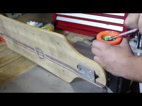 Evolve electric skateboard maintenance - changing bearings and rotating wheels