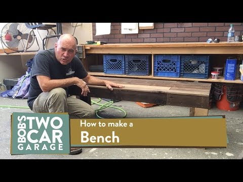 How to build an outdoor bench