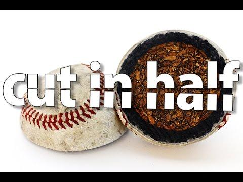 cut in half - baseball