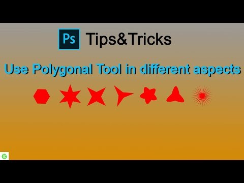 Photoshop tips&tricks | How to use polygonal tool into different aspects | Make star in Photoshop