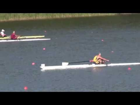 Final 90sec of G singles at World Masters Rowing Regatta