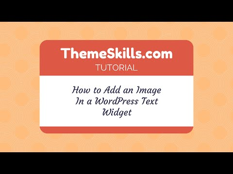 How to Add an Image in a WordPress Text Widget
