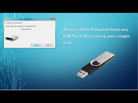 How to remove read-only/ Write protection from USB Flash Drive