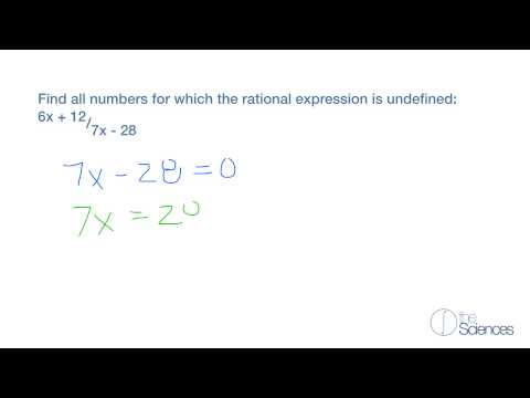Find numbers for which a rational expression is undefined #1