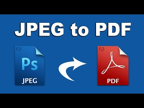 How to Convert Multiple JPG to One PDF in Adobe Photoshop CS6 2018