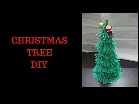DIY Paper Chirstmas Tree Craft!