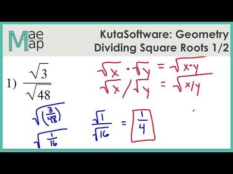 KutaSoftware: Geometry- Dividing Square Roots Part 1