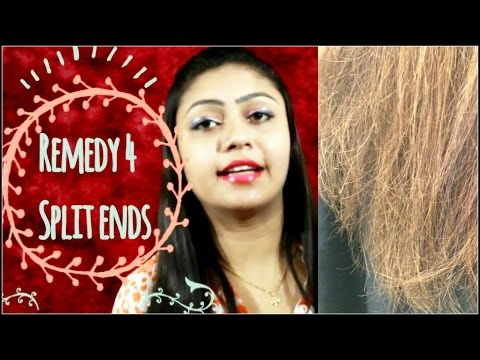 How to remove split ends without cutting your hair in hindi
