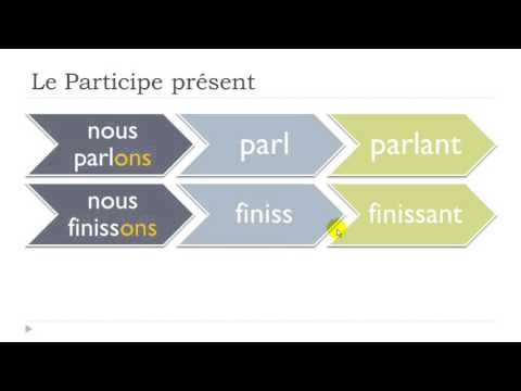 Learn French Today # The present participle and the gerund