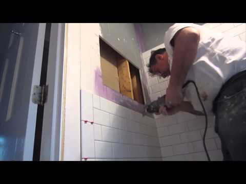 How to install a Noble Niche in a tile shower stall