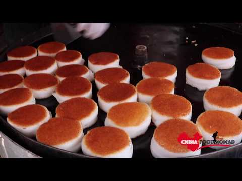 Amazing Chinese Street Food - Crispy Steamed Rice Cake