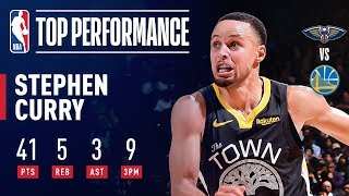 Stephen Curry Goes For 41 Against New Orleans | January 16, 2019