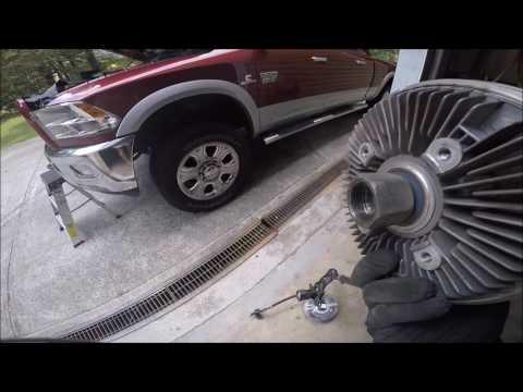 2010-2012 Ram 6.7 2500/3500 electric fan clutch replacment (Easy)