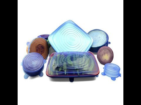 Герметические силиконовые крышки для посуды