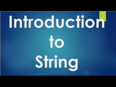 C Programming - 54 - Introduction to String