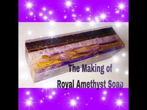 The Making of Royal Amethyst Hemp Soap-Ravishing Lather Style
