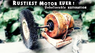 Rustiest Homemade Bench Grinder RESTORATION and MODIFICATION