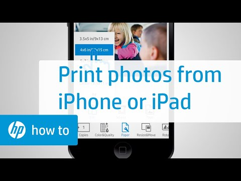 Printing Photos from an iPhone or iPad (Apple iOS)