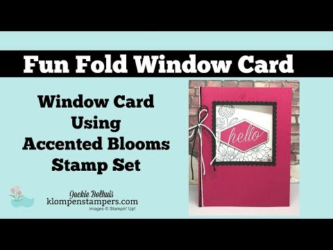 How to Make an Accented Blooms Window Card